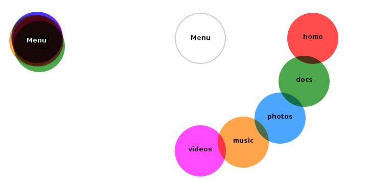 Ashley Sheridan - A Better Radial Menu With Pure CSS