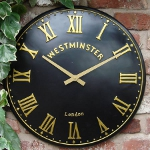Clock face showing Roman numerals